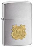 Coast Guard Crest Brush Chrome Zippo Lighter Lighter