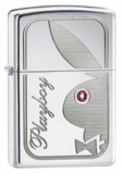 Playboy Bunny Pink Crystal High Polish Chrome Zippo Lighter Lighter