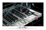 The Key to Wine Prints by Michael Godard