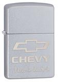 Chevy Satin Chrome Zippo Lighter Lighter