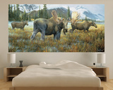Moose (Indoor/Outdoor) Vinyl Wall Mural Wall Mural