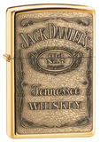 Jack Daniel's Label Brass Emblem High Polish Brass Zippo Lighter Lighter