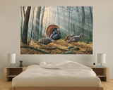 Wild Turkeys (Indoor/Outdoor) Vinyl Wall Mural Wall Mural