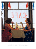 Café Days Poster by Jack Vettriano