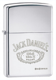 Jack Daniel's Logo High Polish Chrome Zippo Lighter Lighter