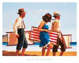 Douce jeune femme sur la plage Affiches par Jack Vettriano