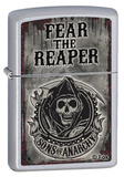 Sons Of Anarchy Fear Reaper Satin Chrome Zippo Lighter Lighter
