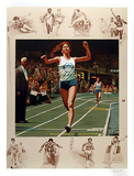 USA Indoor Track Collectable Print by Morton Kunstler