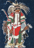 Crow Warrior Collectable Print by Kevin Red Star