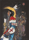 Crow Dancers at Midnight Limited Edition by Kevin Red Star