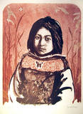 Portrait of an American Indian Girl Limited Edition by John Shemitt Houser