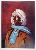 Portrait of an American Indian Woman Spesialversjon av John Shemitt Houser