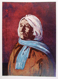 Portrait of an American Indian Woman Limitierte Auflage von John Shemitt Houser