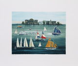 Tall Ships East River Limited Edition by Mary Faulconer