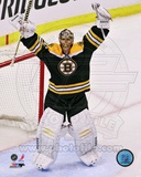 Tuukka Rask celebrates winning the 2013 Eastern Conference Finals Photo