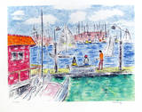 Fishing off the Docks Limited Edition by Pat Berger