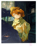 Portrait de Femme after Toulouse-Lautrec Collectable Print by Laurent Salinas