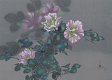 Purple Flowers on Vine 21 Collectable Print by David Lee