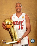 Mario Chalmers with the NBA Championship Trophy Game 7 of the 2013 NBA Finals Photo