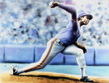 The Delivery (New York Mets Dwight Gooden) Collectable Print by Jack Lane