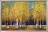Gouden bomengroep Affiches van Melissa Graves-Brown