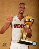 Chris Bosh with the NBA Championship Trophy Game 7 of the 2013 NBA Finals Photo
