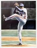 The Wind Up (New York Mets Dwight Gooden) Collectable Print by Jack Lane