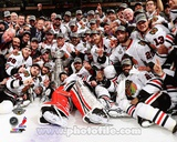 The Chicago Blackhawks celebrate winning Game 6 of the 2013 Stanley Cup Finals Foto
