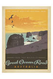 Tour The Majestic Great Ocean Road, Australia Print by  Anderson Design Group