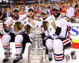 Viktor Stalberg, Niklas Hjalmarsson, Marcus Kruger, & Johnny Oduya 2013 Stanley Cup Finals Photo