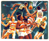 NBA (Sonics) Collectable Print by Allan Mardon