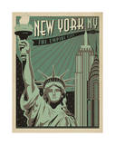 New York, NY: The Empire City Print by  Anderson Design Group