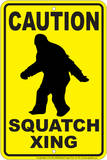 Squatch Parking Tin Sign Tin Sign