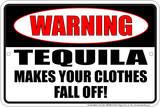 Tequila Clothes Tin Sign Plaque en métal