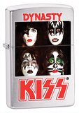 Kiss Dynasty Brush Chrome Zippo Lighter Lighter
