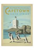 Reclameposter Kaapstad, Zuid-Afrika, Engelse tekst: Capetown Posters van  Anderson Design Group
