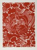 Marine Garden (Red) Særudgave af Manuel Izqueirdo