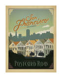 San Francisco, California: Postcard Row Prints by  Anderson Design Group