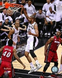 Tim Duncan Game 3 of the 2013 NBA Finals Action Photo