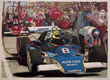 Tom Sneva Collectable Print by Ron Kleemann