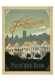 San Francisco, California: Postcard Row Posters af Anderson Design Group