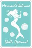 Mermaids Welcome Tin Sign Plakietka emaliowana