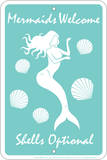 Mermaids Welcome Tin Sign Blechschild