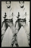 Double Elvis, vers 1963 Reproduction giclée encadrée par Andy Warhol