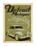 Detroit, Michigan: The Motor City Lámina giclée por Anderson Design Group