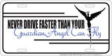 Guardian Angel License Plate Tin Sign Tin Sign