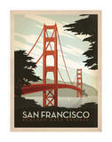 San Francisco : pont du Golden Gate Affiches par  Anderson Design Group