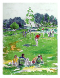 Golf Collectable Print by Pat Berger