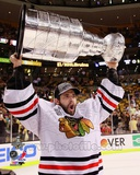 Corey Crawford with the Stanley Cup Game 6 of the 2013 Stanley Cup Finals Photo