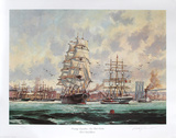 Morning Departure, New York Harbour Collectable Print by Eldred Clark Johnson